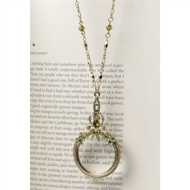 Gold Olivine Magnifying Glass Necklace