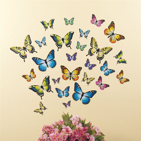 Butterfly Wall Decals, Set of 26