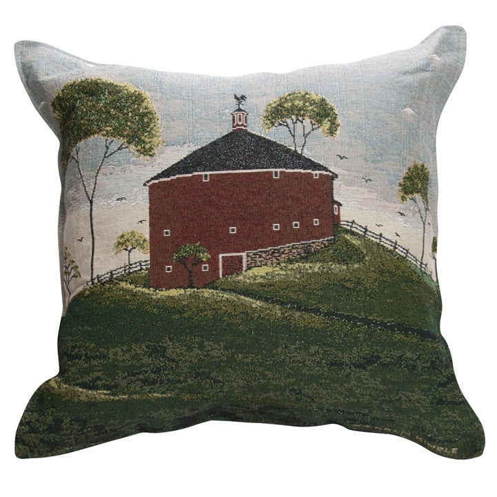Shelburn Barn Tapestry Pillow