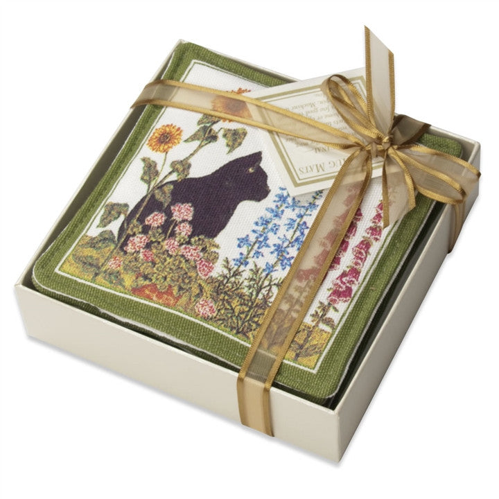 Wildflowers & Cat Scented Mug Mat Coasters