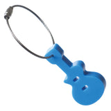 Silicone Guitar Keychain/Luggage Tag