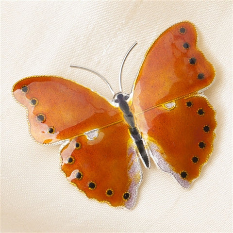 Sterling Silver Copper Butterfly Pin (NB)