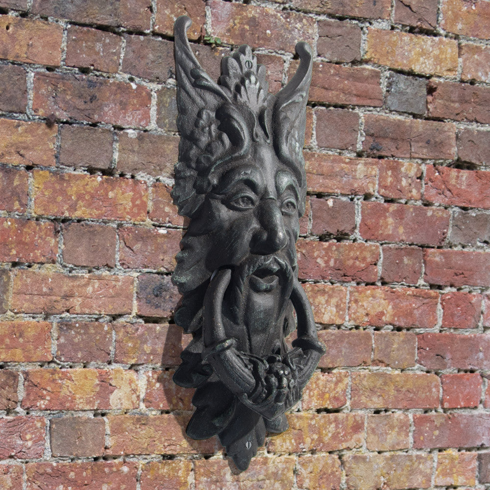 Large green man door knocker at linda anderson - Greenman door knocker ...
