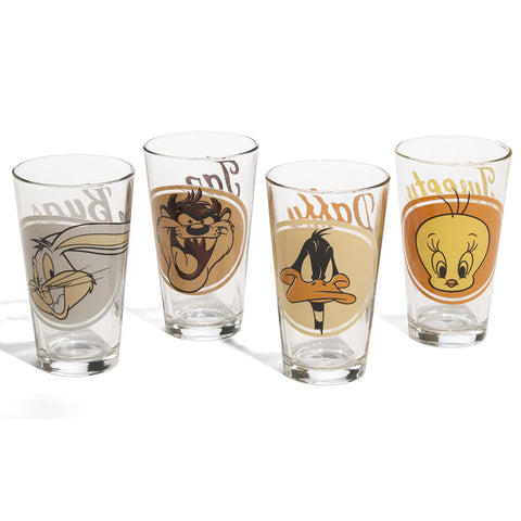 Looney Tunes Pint Glasses 4-Pack