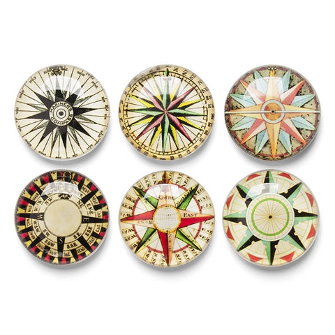 Tradewinds Glass Dome Magnets, Set of 6