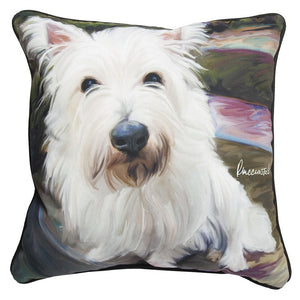Little Westie Pillow at Linda Anderson