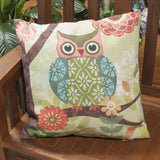 Forest Owl Climaweave Outdoor Pillow