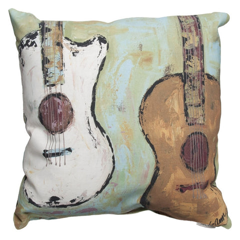 Square Guitars Indoor/Outdoor Pillow