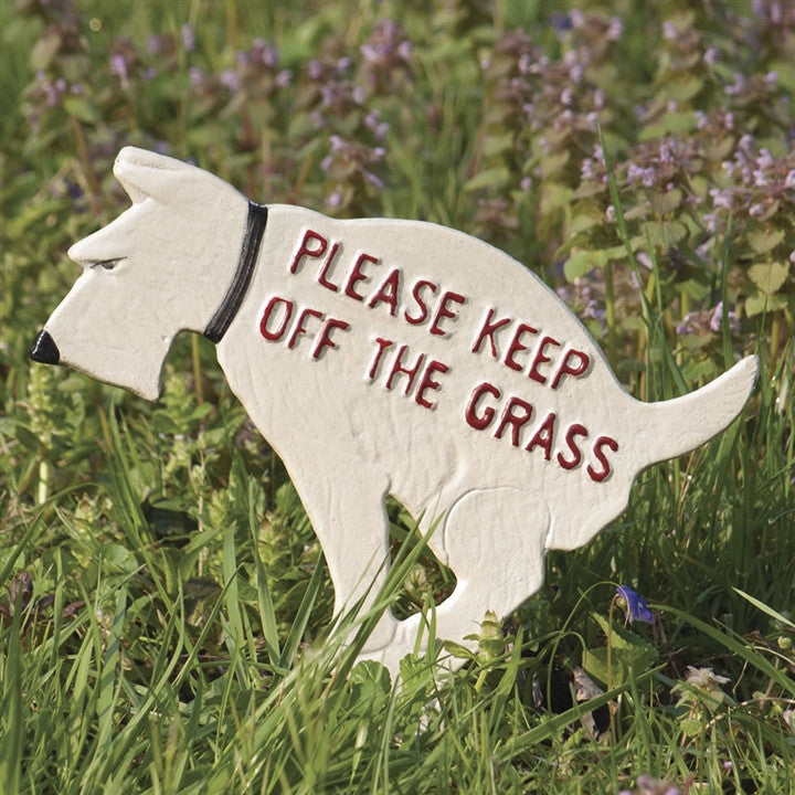 Canine Keep Off The Grass Sign