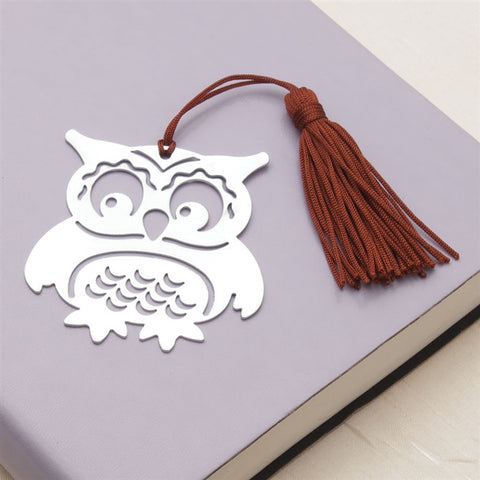Laser-Cut Metal Owl Bookmark