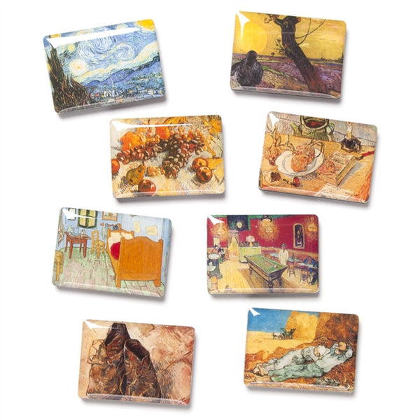 Van gogh paintings magnets set of 8 linda anderson for Signoraware organise your kitchen set 8 pieces