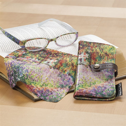 Monets Garden Reading Glasses, Cloth and Case