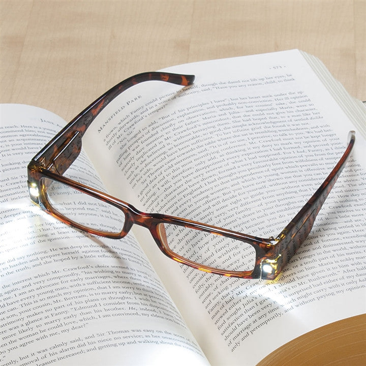 Lighted Tortoise Shell Readers (NB)