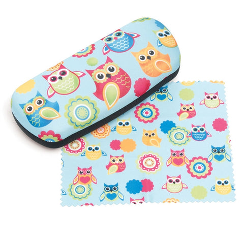 Owls Eyeglasses Case & Cloth