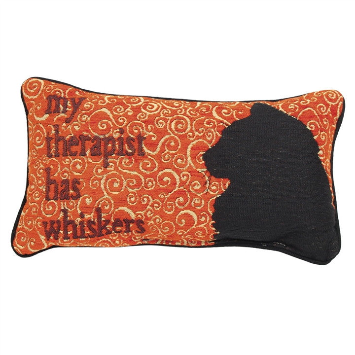 Therapist Whiskers Pillow