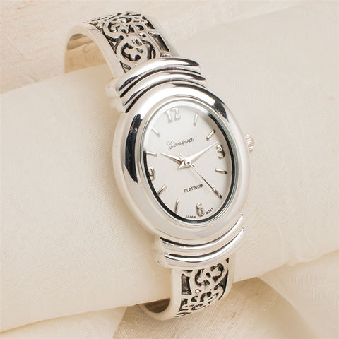 Scroll Design Cuff Watch
