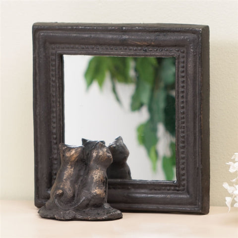 Two Kittens Tabletop Mirror