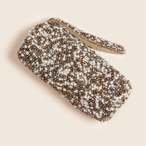 Beaded Pebble Tube Wristlet (NB)