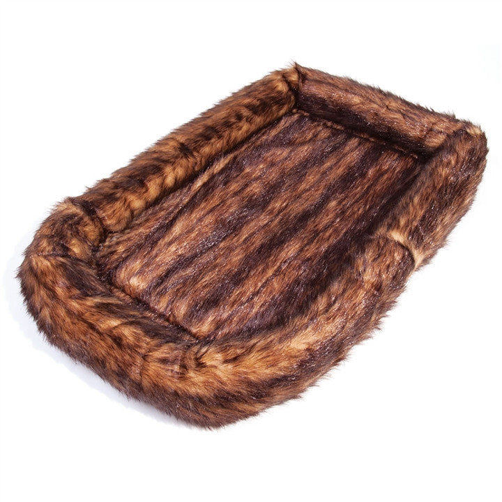 Faux Mink Pet Bed