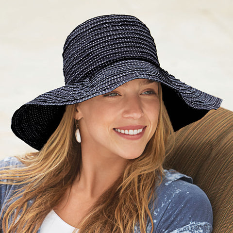Polka Dot Scrunchie Sun Hat (NB)