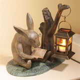 Reading Rabbit Garden Sculpture