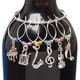 Music Wine Charms, Set of 6