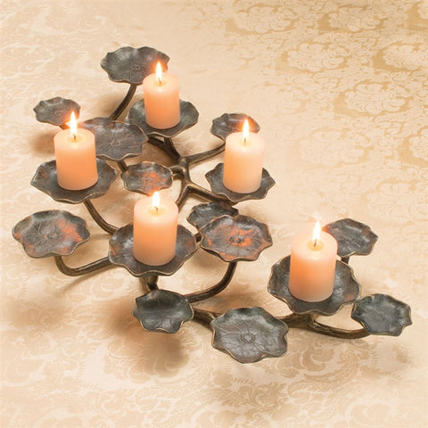Lilypad Sculpture & Candle Holder