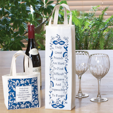 Great Friends Wine Bag