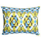 Blue Kaleidoscope Outdoor Pillow