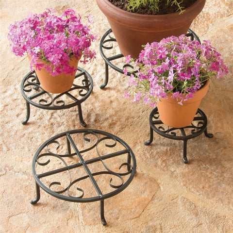 Iron Plant Stands, Set of 4