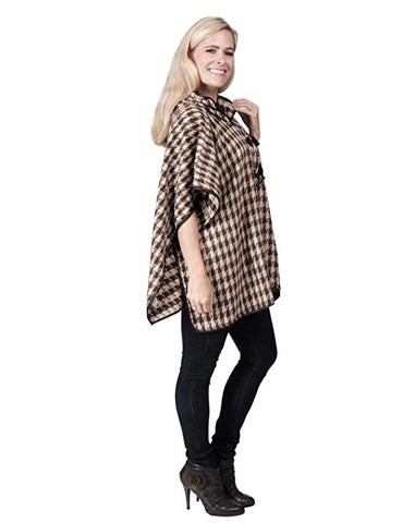 Ladies Fashion Ruana Knit Cape - FP60407-BB