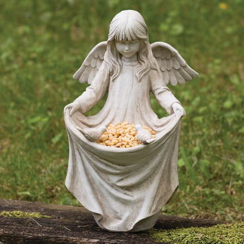 Angelic Cherub Figurine Bird Feeder