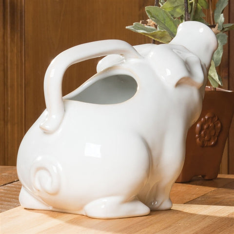 Happy Pig Ceramic Pitcher