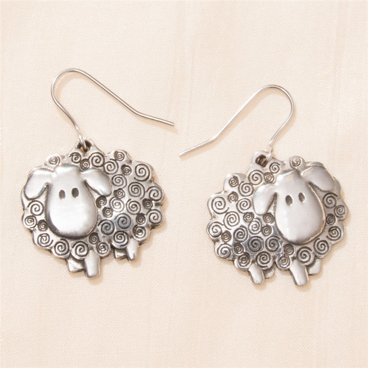 Swirly Sheep Earrings