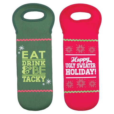 Ugly Sweater Wine Totes, Set of 2