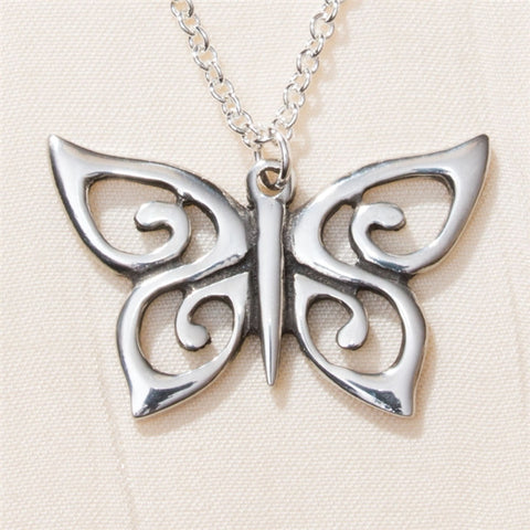 Spiral Butterfly Necklace