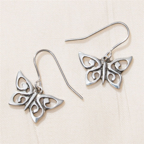 Spiral Butterfly Earrings