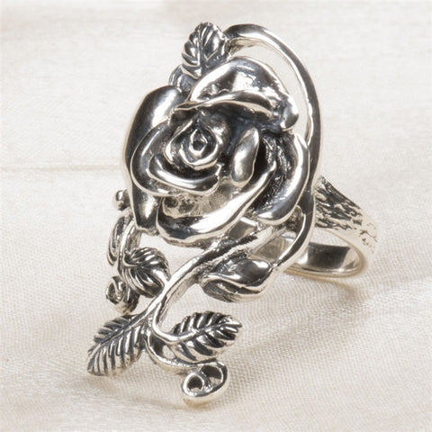 Rambling Rose Sterling Silver Ring