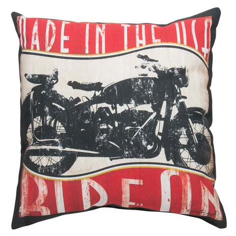 Vintage Motorcycle Indoor/Outdoor Pillow (NB)