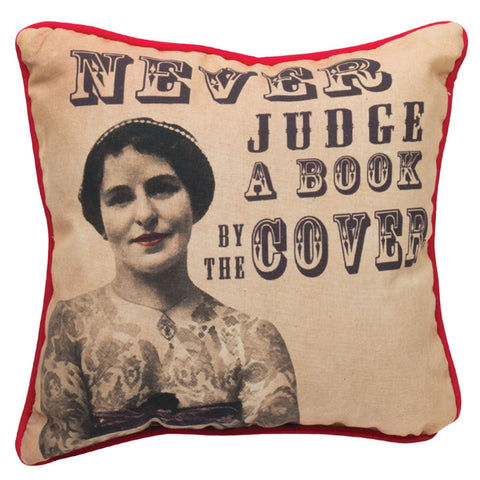 Never Judge A Book Pillow