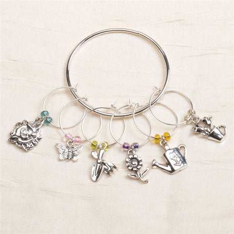 Garden Party Wine Charms, Set of 6