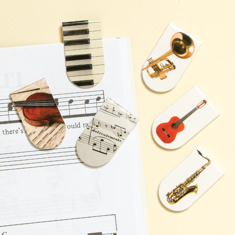 Music-Themed Magnetic Mini-Bookmarks (NB)
