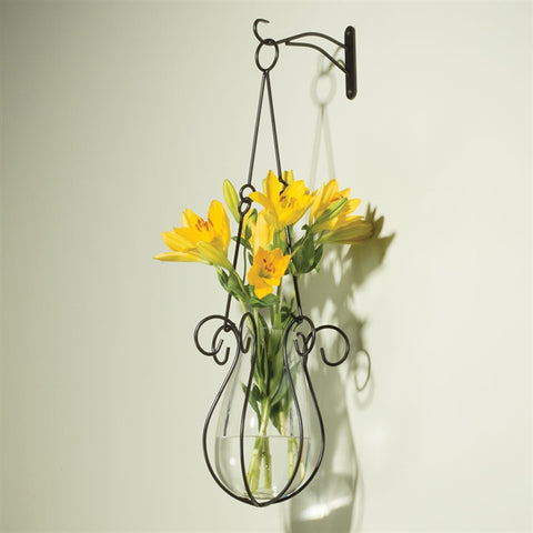 Hanging Glass Vase With Bracket (NB)
