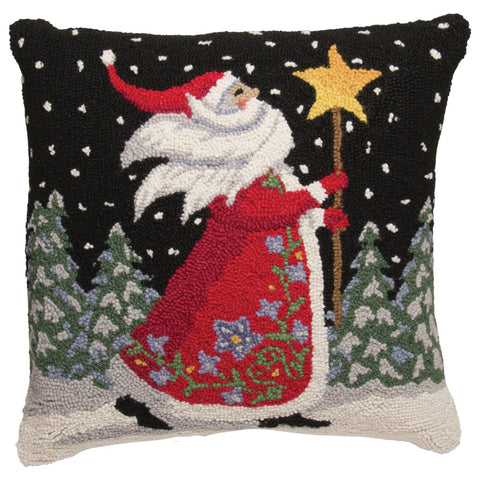 Father Christmas Wool Pillow