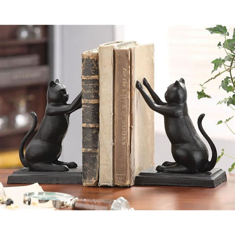 Cast Iron Cat Bookends