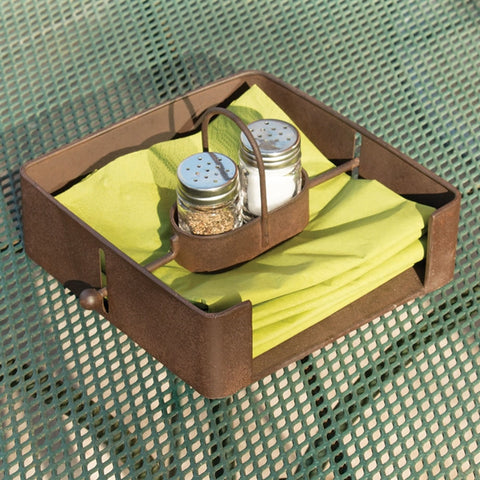 Outdoor Napkin Holder with Salt & Pepper Shakers
