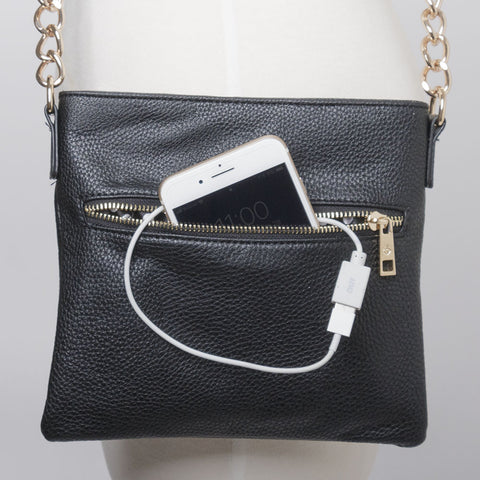 Crossbody Phone-Charging Power Purse (NB)