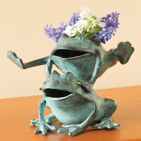 Leapfrogging Frogs Flower Frog