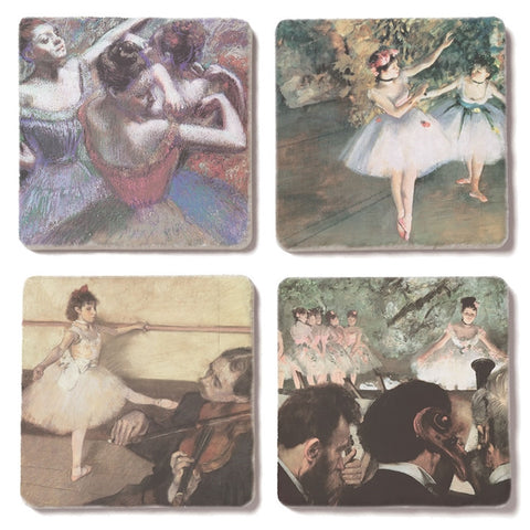Degas Dancers Tumbled Tile Coasters