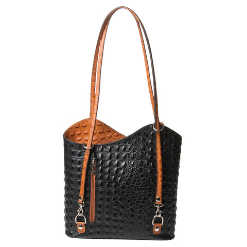 3-in-1 Convertible Leather Handbag (NB)